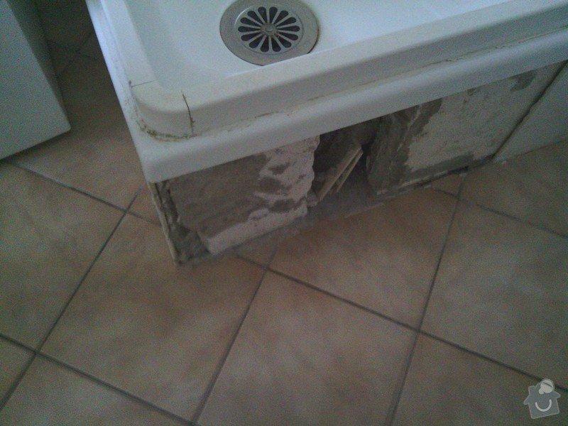 Opravy v koupelně po instalatéřích: 3
