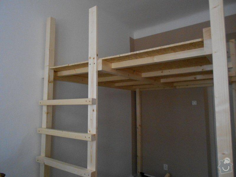 Výroba a montáž patra na spaní: DSCN0628