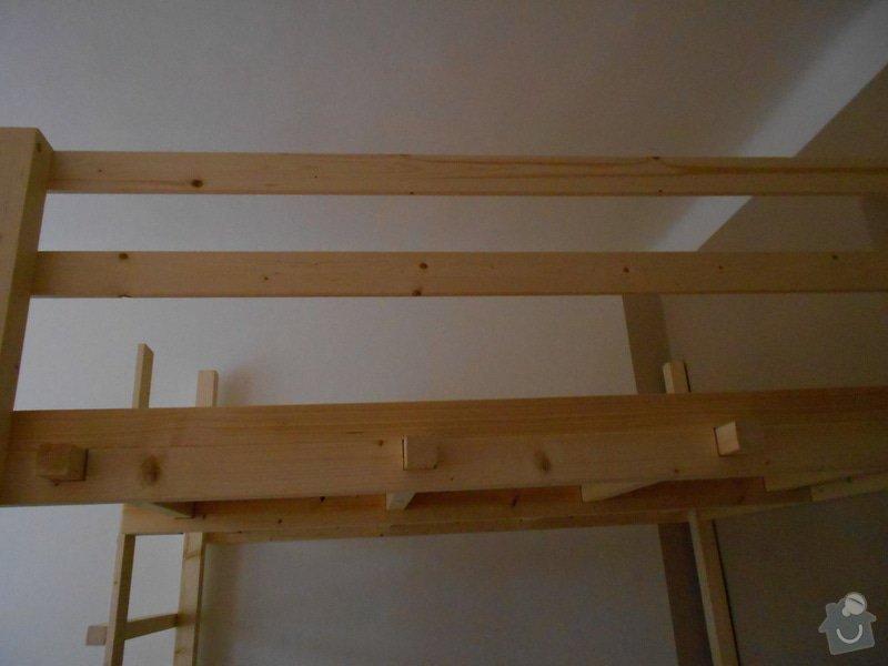 Výroba a montáž patra na spaní: DSCN0632