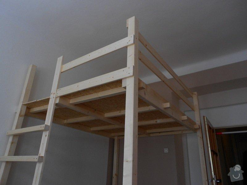 Výroba a montáž patra na spaní: DSCN0638