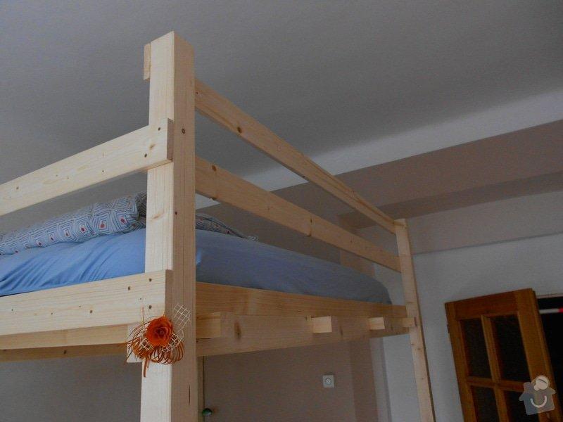 Výroba a montáž patra na spaní: DSCN0649