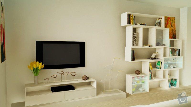 Design obývaciho pokoje - návrh knižnice: 1