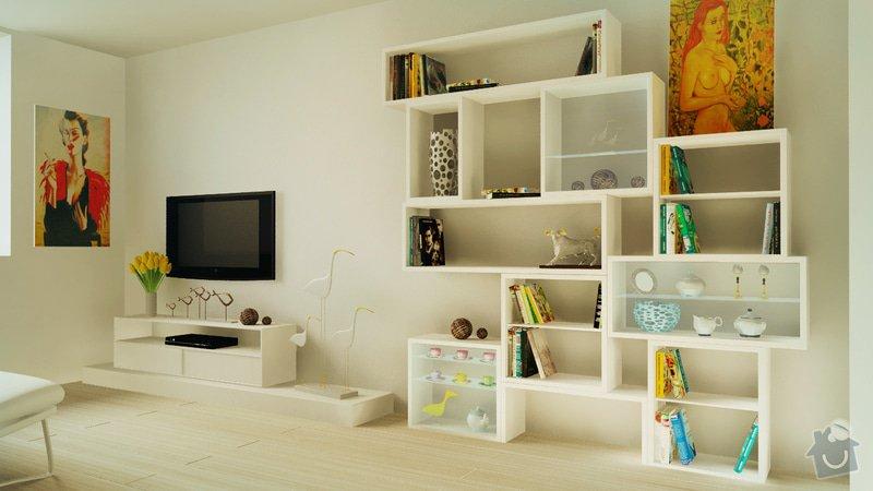 Design obývaciho pokoje - návrh knižnice: 2