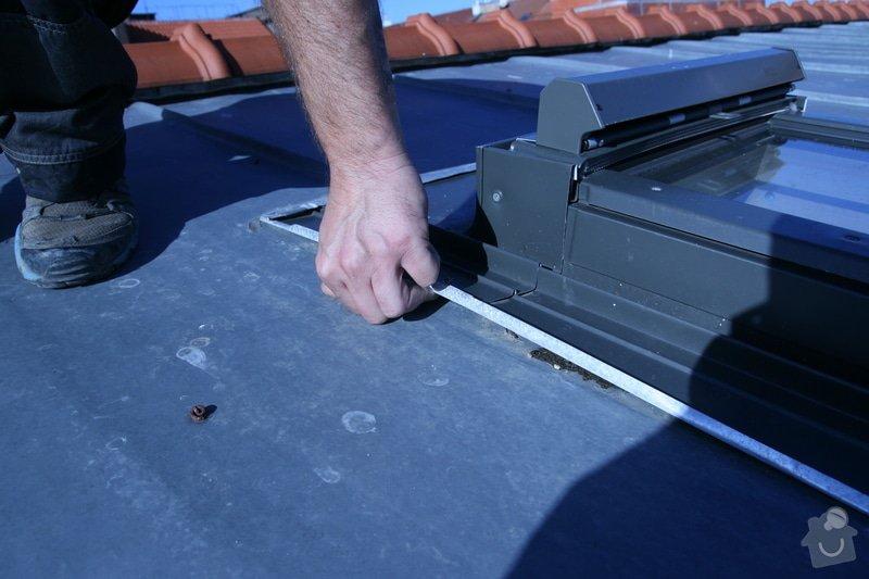 Oprava vsazení střešních oken do plechové střechy: IMG_4428