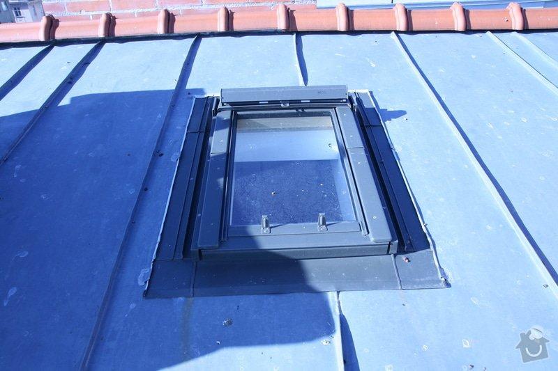 Oprava vsazení střešních oken do plechové střechy: IMG_4436