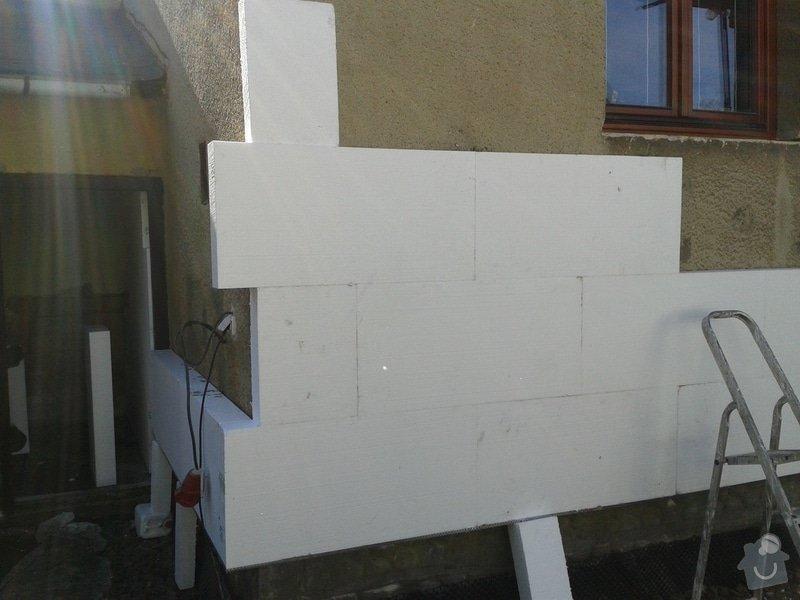 Zateplení ploché střechy cca 28m2 a stěn objektu cca 55m2: 20131014_121421