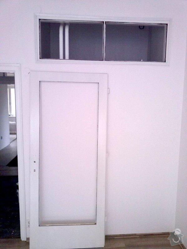 Zasklení 2x dveří a 4x průhledu v bytě: zaskleni-3