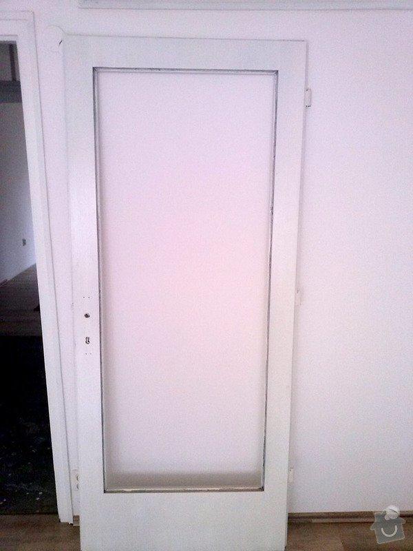 Zasklení 2x dveří a 4x průhledu v bytě: zaskleni-2