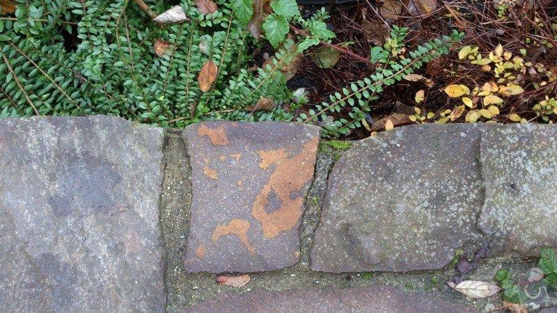 Okapničku pod kámen na terase -klempíř: vrchni_pohled