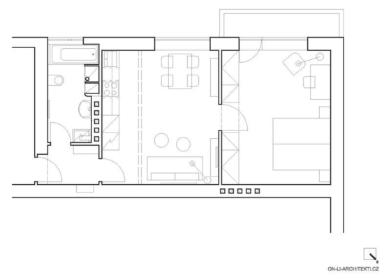 Návrh interiéru funkcionalistického bytu