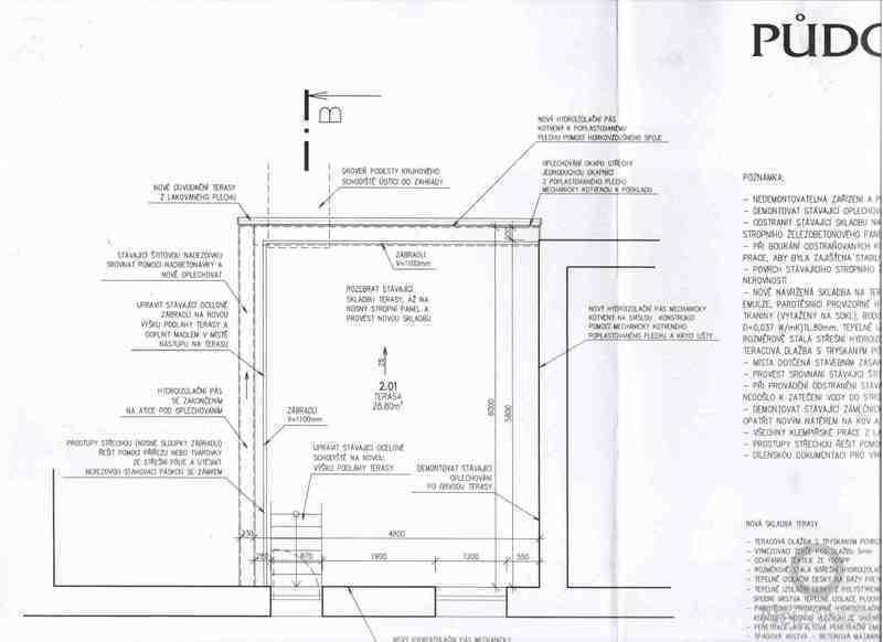 Opravu ploché střechy kvůli zatékání, tepelná hydroizolace: planek