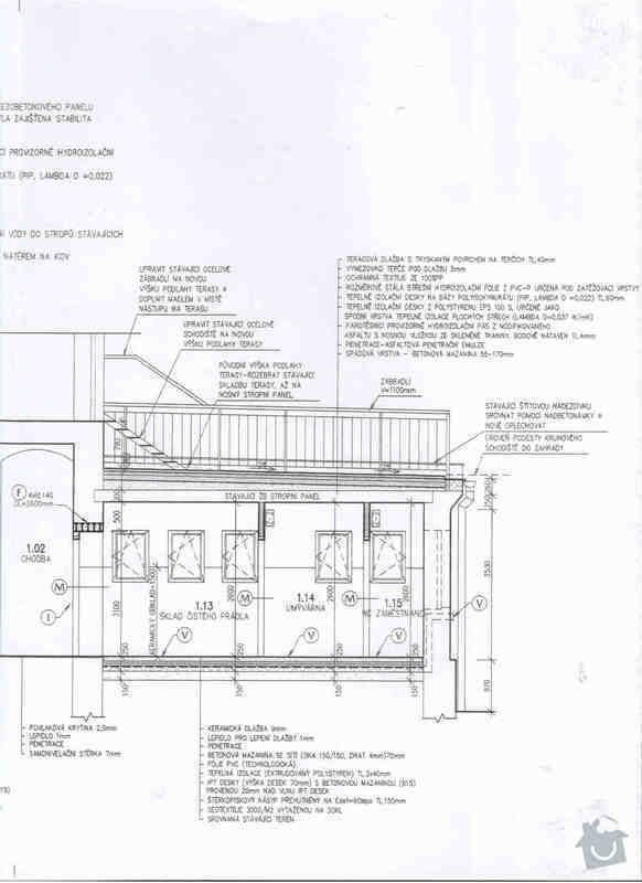 Opravu ploché střechy kvůli zatékání, tepelná hydroizolace: planek3