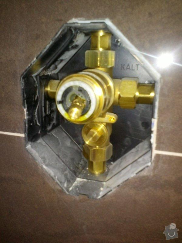Montáž sprchové baterie: baterie