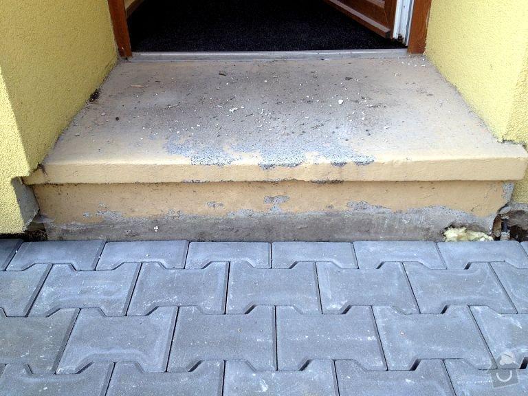 Obložení vstupního schodu RD: Obrany_vchod02