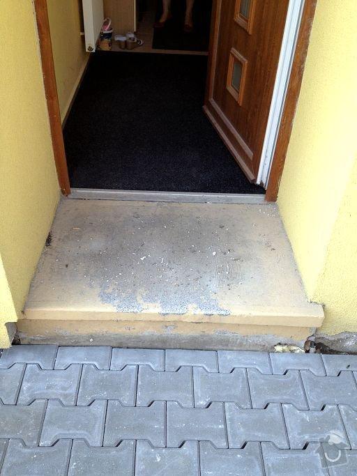 Obložení vstupního schodu RD: Obrany_vchod01