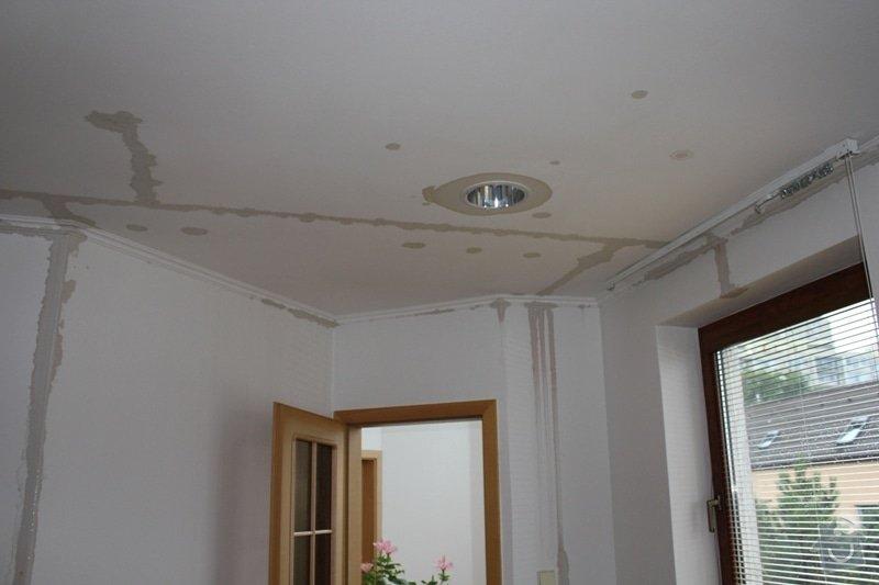 Oprava stropního sádrokartonu + malířské práce (pokoj + koupelna): Vyplaveny_pokoj_II