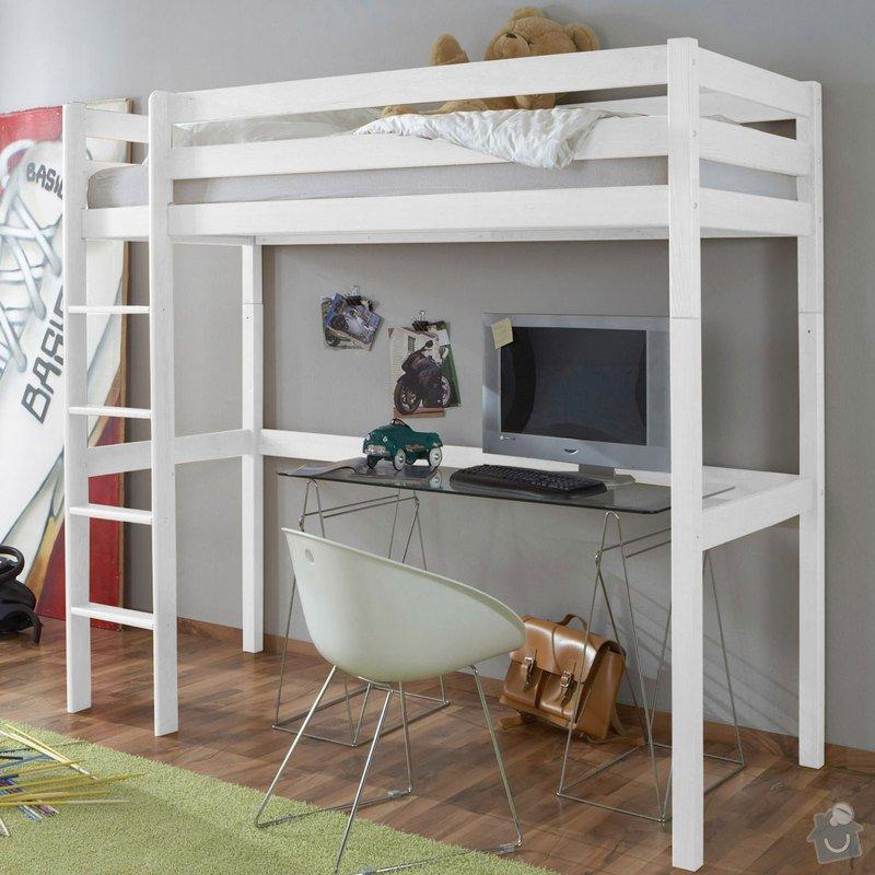 Dve postele - 1 vysoka, 1 standardni: postel