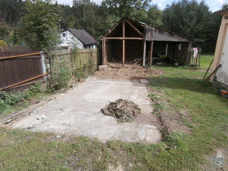 Stavba dř. přístřešku(garáže), bez základů : 137