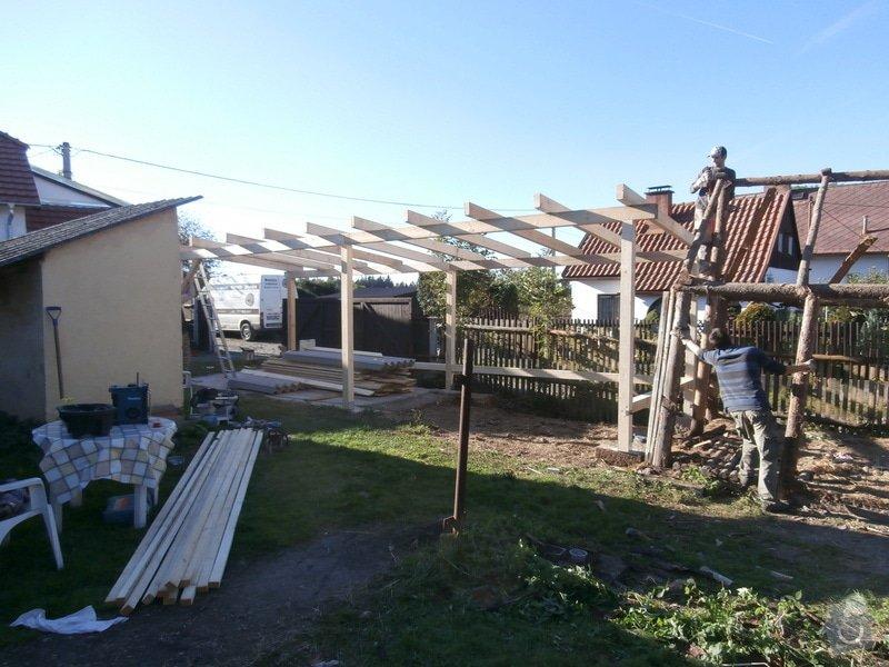Stavba dř. přístřešku(garáže), bez základů : 144