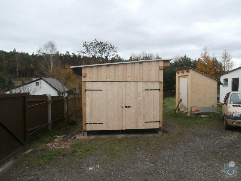 Stavba dř. přístřešku(garáže), bez základů : 163