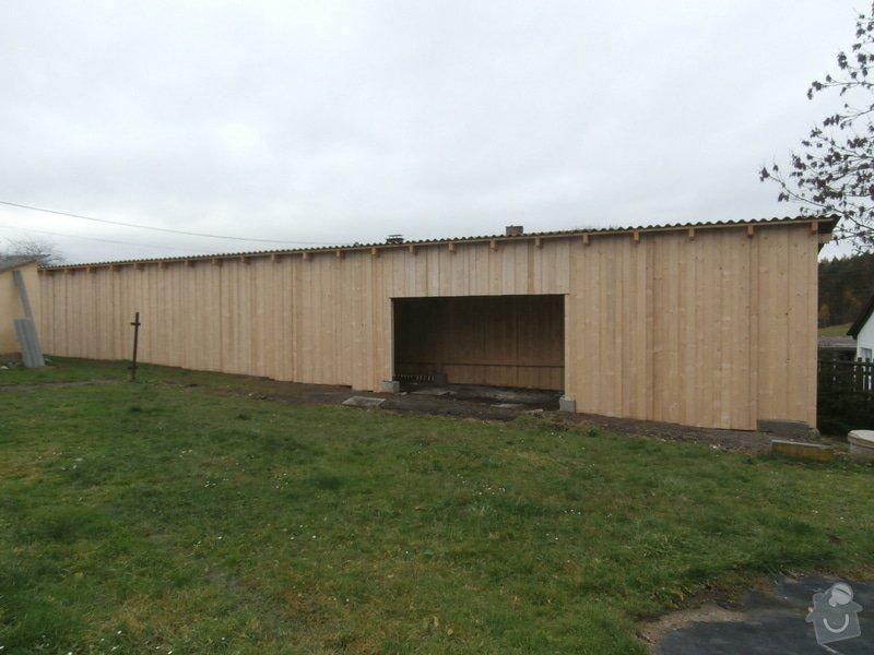 Stavba dř. přístřešku(garáže), bez základů : 164