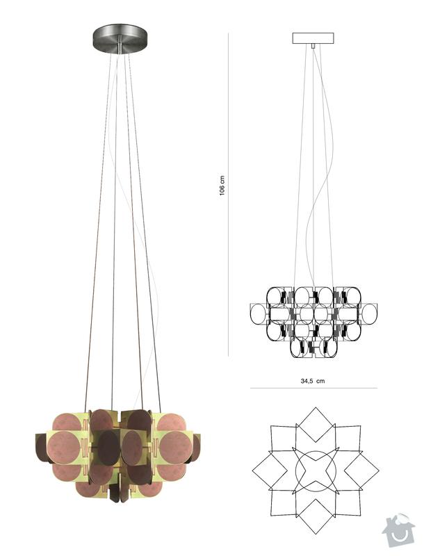 Nerez konstrukce pro závěsné svítidlo: svitidlo