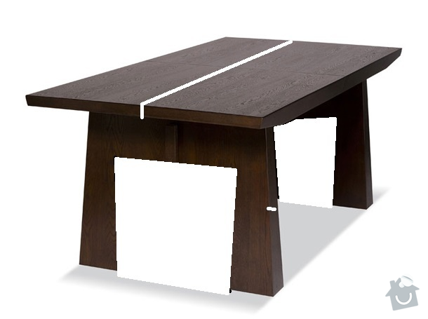 Masivní nábytek - stůl, koupelnová deska, dřevěné poličky/příčky: jidelni_stul