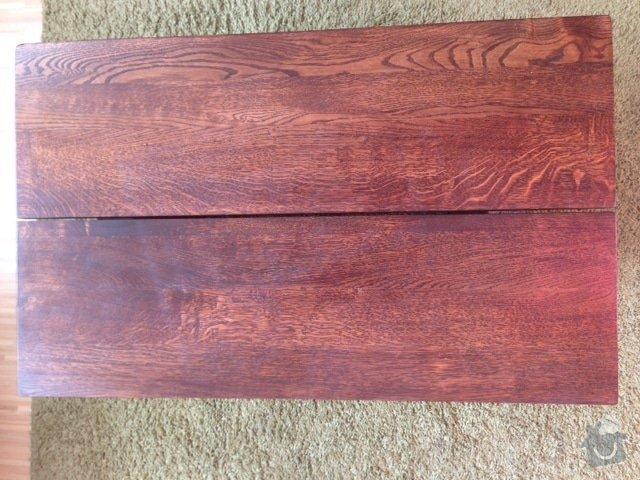 Masivní nábytek - stůl, koupelnová deska, dřevěné poličky/příčky: Stul_1