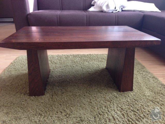 Masivní nábytek - stůl, koupelnová deska, dřevěné poličky/příčky: Stul_2