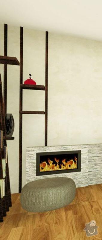 Masivní nábytek - stůl, koupelnová deska, dřevěné poličky/příčky: pricky_obyvak2