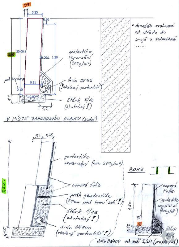 Stavba opěrných zdí Naturblok (CS Beton): rezy
