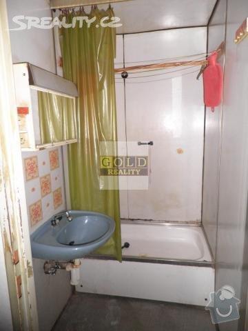 Rekonstrukce bytového jádra u bytu 2+kk: koupelna
