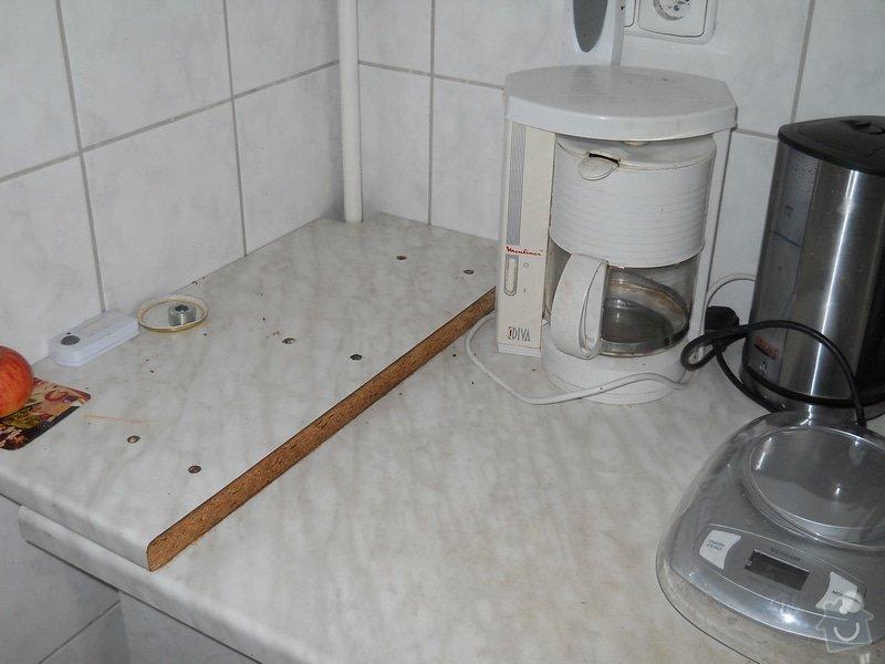 Provedení výměny pracovní desky kuchyňské linky: DSCN0705