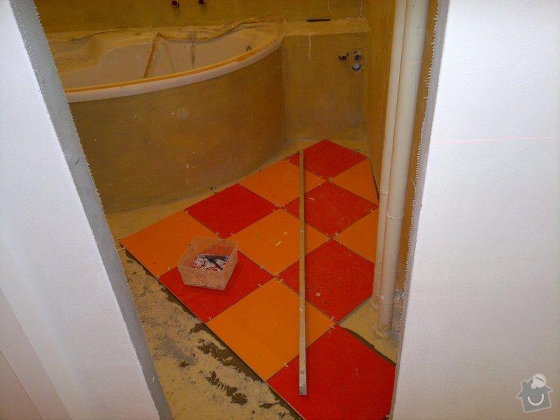 Rekonstrukce koupelny, wc, šatny,pokládka podlahy,malba: 6