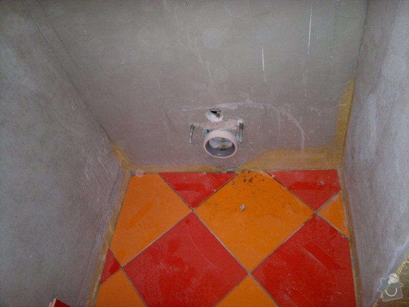 Rekonstrukce koupelny, wc, šatny,pokládka podlahy,malba: 11a