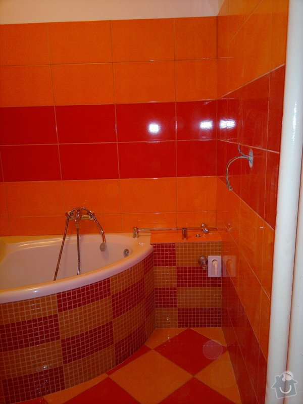 Rekonstrukce koupelny, wc, šatny,pokládka podlahy,malba: 17