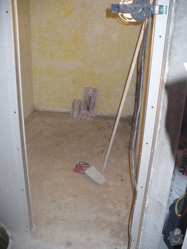 Rekonstrukce koupelny, wc, šatny,pokládka podlahy,malba: 21