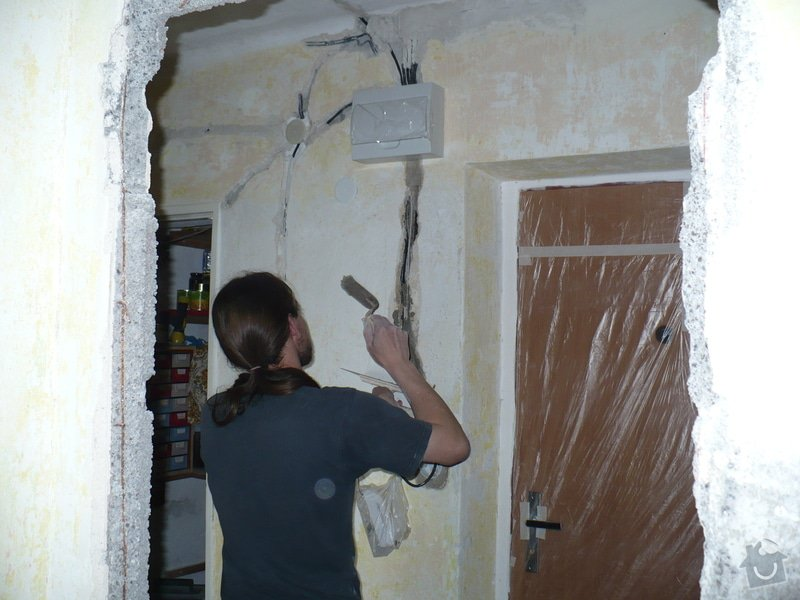 Rekonstrukce koupelny, wc, šatny,pokládka podlahy,malba: 22