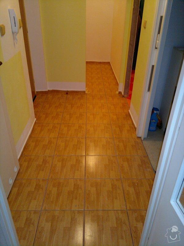 Rekonstrukce koupelny, wc, šatny,pokládka podlahy,malba: 22a