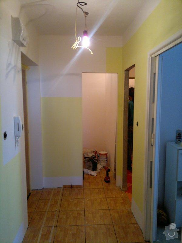 Rekonstrukce koupelny, wc, šatny,pokládka podlahy,malba: 24