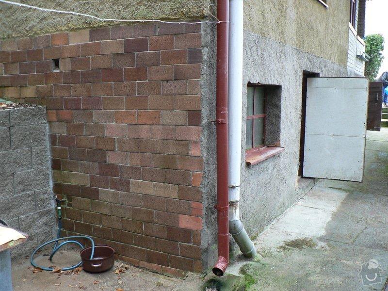 Stavební práce - bourací práce a vyzdění stěny ze ztraceného bednění: P1110386