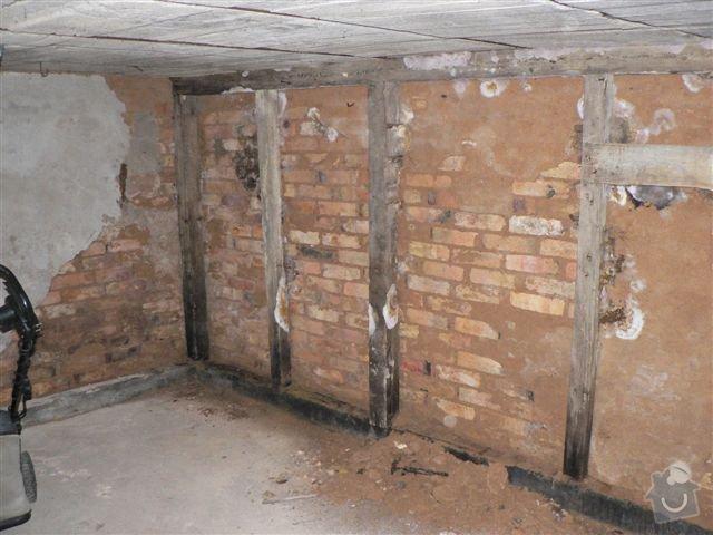 Stavební práce - bourací práce a vyzdění stěny ze ztraceného bednění: pohled_A