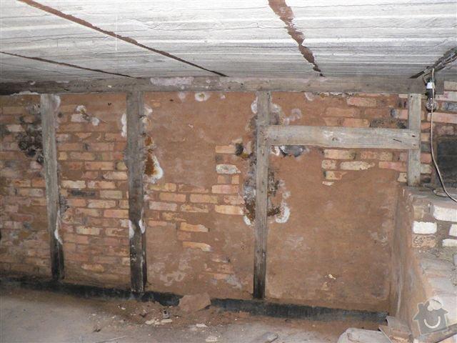 Stavební práce - bourací práce a vyzdění stěny ze ztraceného bednění: pohled_B