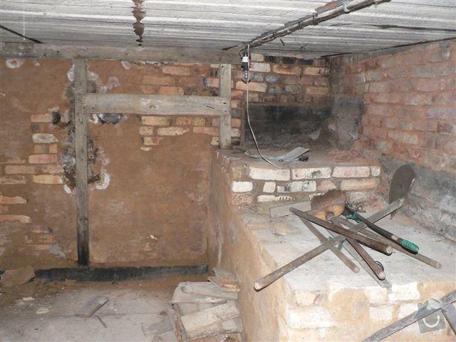 Stavební práce - bourací práce a vyzdění stěny ze ztraceného bednění: pohled_C