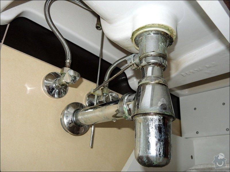 Oprava kapajícího sifonu: koupelna2