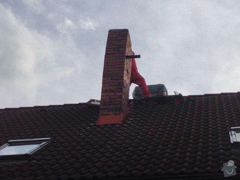 Rekonstrukce komínu a rozebrání druhého komínu: IMG_0415