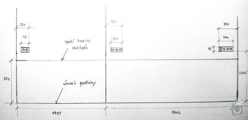 Kalibrované obklady položení 3,5 m2: zasuvky
