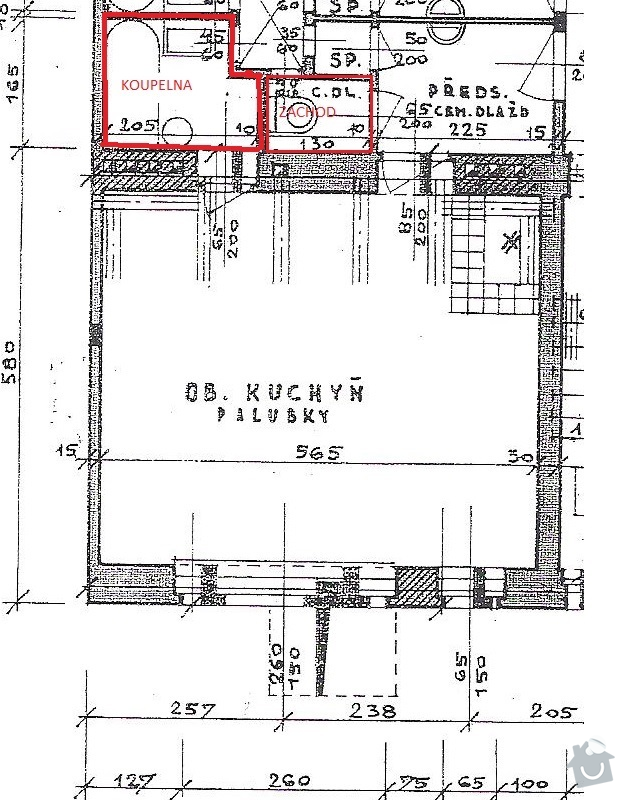 Rekonstrukce koupelny a wc: dlazba