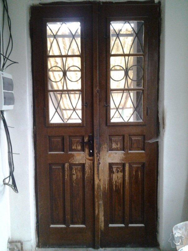 Zateplení a renovace starých vstupních dveří: 20131114_141608