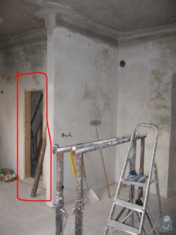 Zhotovení dřevěných rámových dveří do stávajících otvorů - 2 ks: dvere_kuchyn_komora